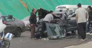إصابة ثلاثة فى حادث انقلاب سيارة ملاكى داخل أرض زراعية بالدقهلية