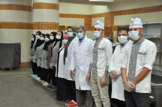 رئيس جامعة كفرالشيخ يشيد بالالتزام بارتداء الكمامات في الحرم الجامعى وجميع الوحدات