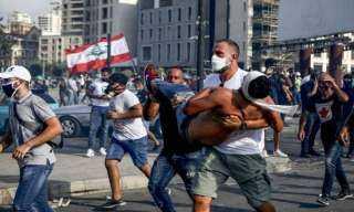 ارتفاع اعداد المصابين فى مظاهرات بيروت إلى 172 شخص