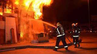 تحقيقات موسعة فى حريق شركة منظفات بحدائق الأهرام