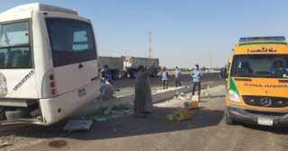 إصابة 3 أساتذة جامعيين فى حادث بطريق الإسماعيلية - القاهرة