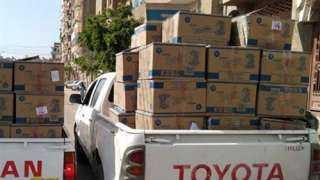 ضبط سيارة نقل محملة بـ 100 ألف علبة سجائر مهربة في أسيوط