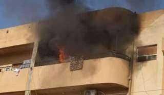 حريق هائل بإحدى الشقق السكنية بالزقازيق