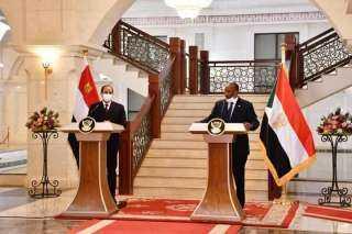 نص كلمة الرئيس فى المؤتمر الصحفى بالخرطوم عقب القمة المصرية-السودانية