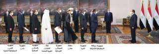 الرئيس يتسلم أوراق اعتماد خمسة عشر سفيرا جديدا