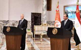 كلمة الرئيس السيسي خلال المؤتمر الصحفي المشترك مع رئيس تونس