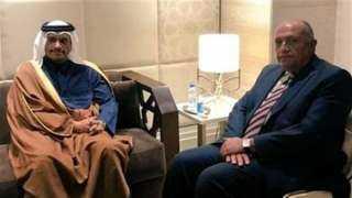 سامح شكري يتوجه إلى قطر غدًا للقاء تميم بن حمد