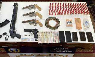 القبض على مسجل خطر بحوزته 6 قطع سلاح و1000 قرص مخدر بدمياط