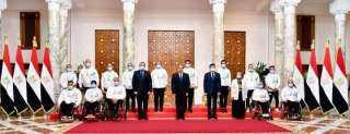 الرئيس يكرم أبطال مصر الفائزين بميداليات فى دورة الألعاب البارالمبية بطوكيو