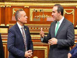 المستشار أحمد مناع يستقبل أمين عام البرلمان العربي