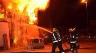 السيطرة على حريق شب داخل محل تجاري بالوراق